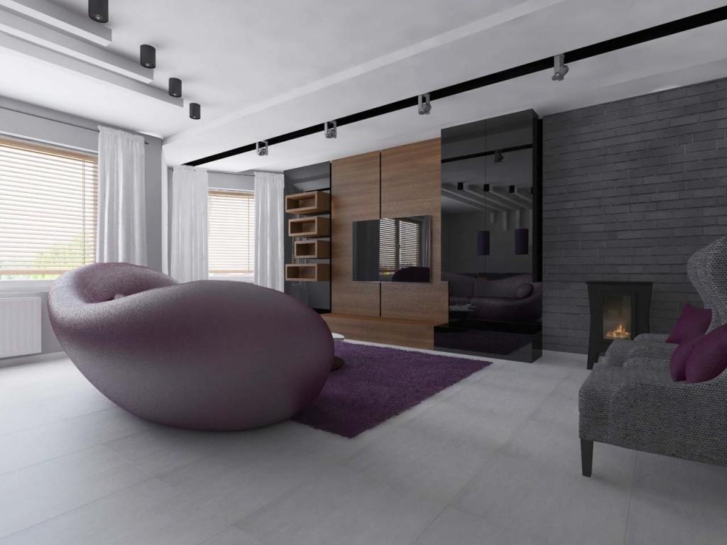 Designerska sofa wkomponowana w przestrzeń salonu