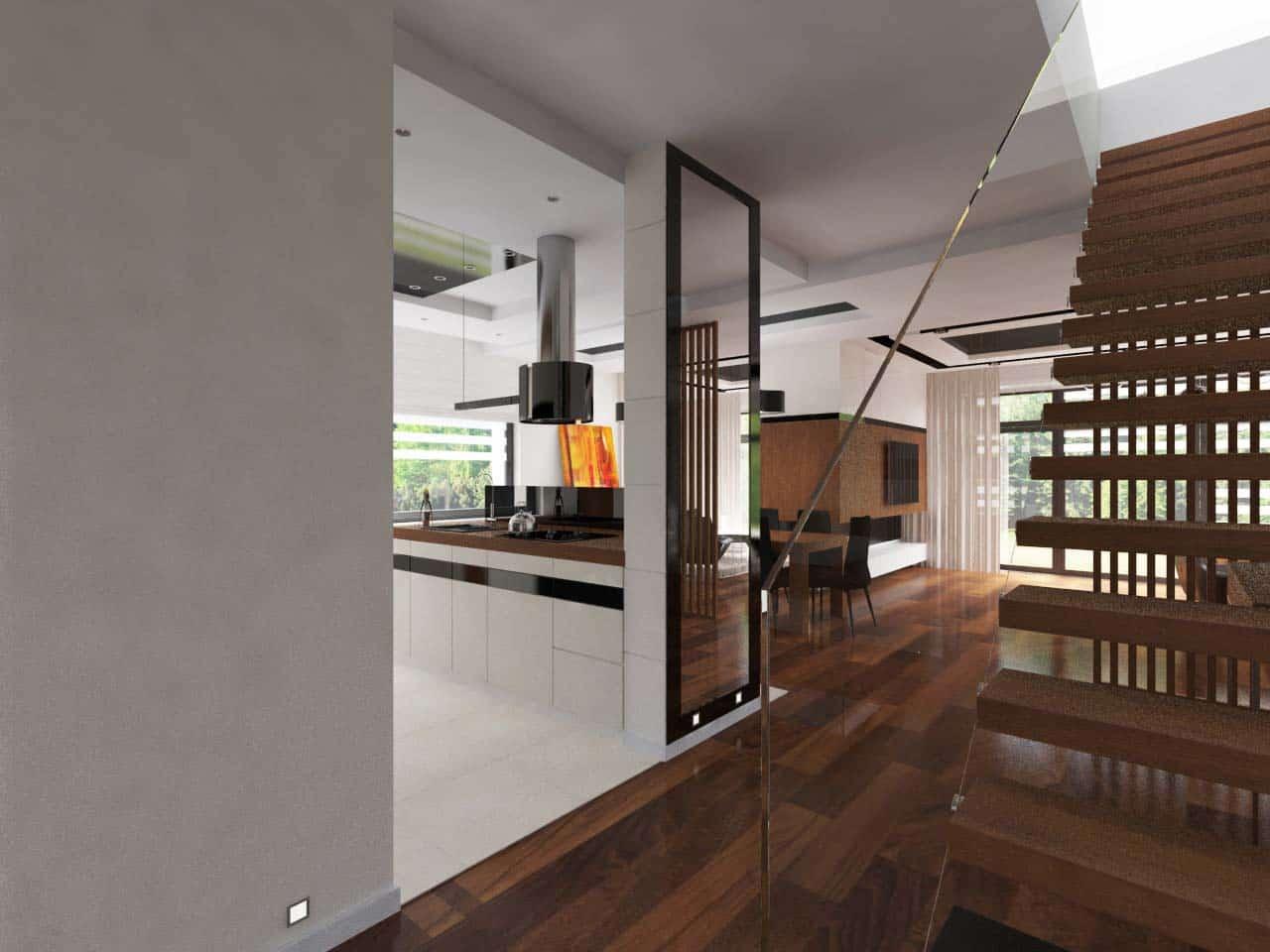 Projekt wn trza domu w solcu kuajwskim k bydgoszczy for Projekty kuchni z salonem