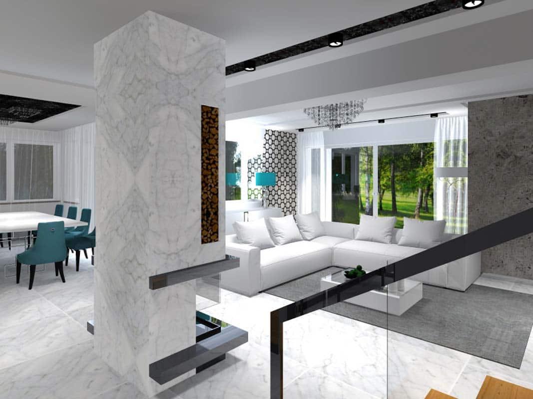 Dom w mieści i stylowe meble