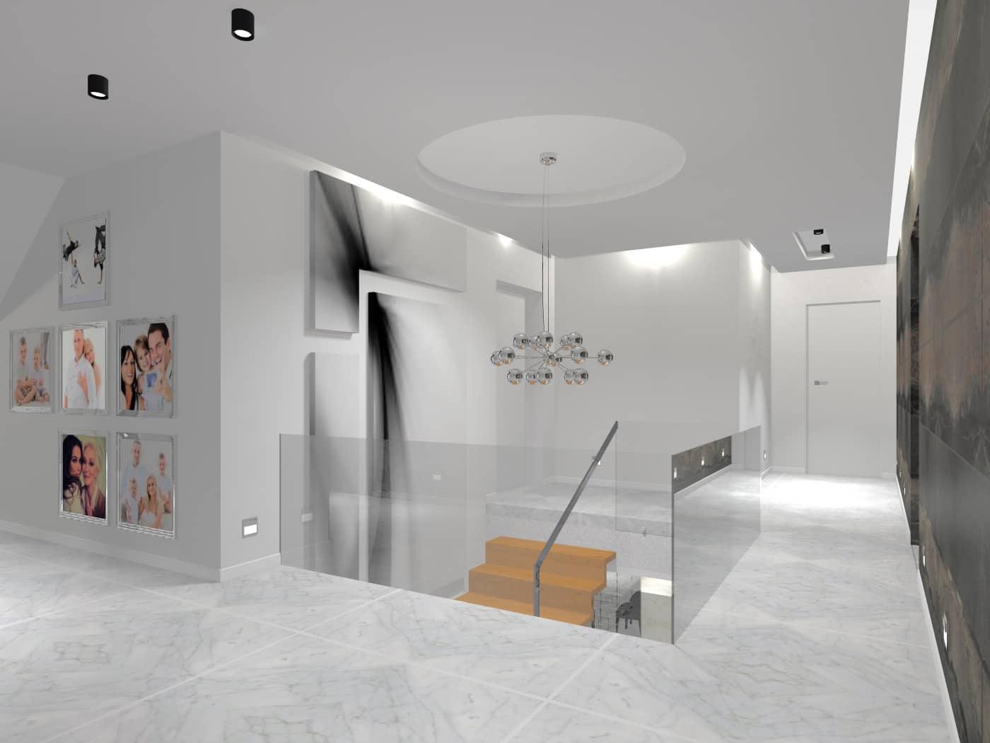 Bohema Design, wnętrze stylowej przestrzeni ze schodami.